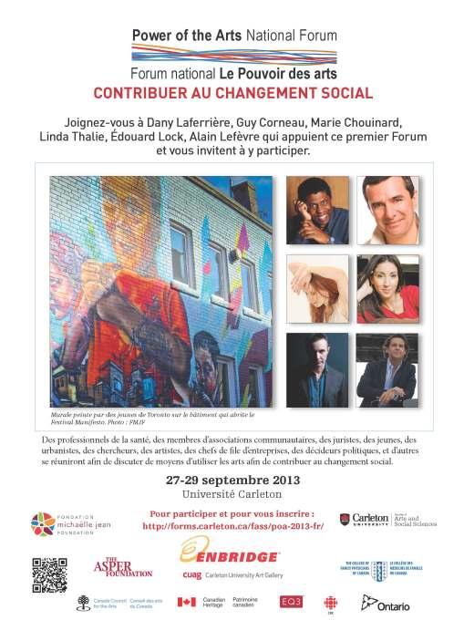 FMJF - Forum national Le Pouvoir des arts Evite